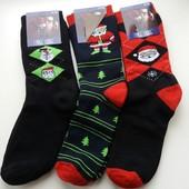 Мужские махровые  новогодние носки. В наличии.