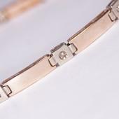 Золотой браслет 585 с бриллиантами цвета шампань  0,374 карат