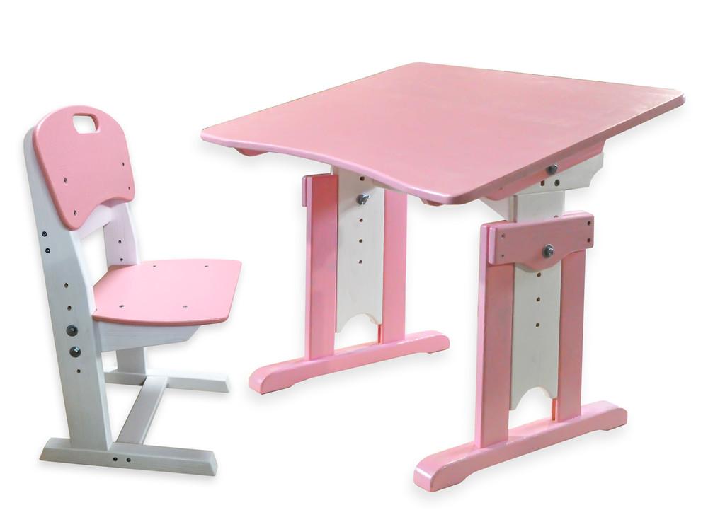 Детская парта и растущий стульчик – цветной комплект мебели фото №1