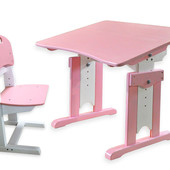Детская парта и растущий стульчик - цветной комплект мебели