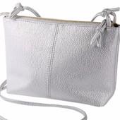 Сумка клатч серебро код 3-201