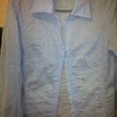 нежно-голубая блуза на крючочках р.40-42(Size 8). УП +10грн