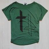 Яркая футболка для девочки в свободном стиле от New Look, размер 10-11 лет, состояние новой вещи.