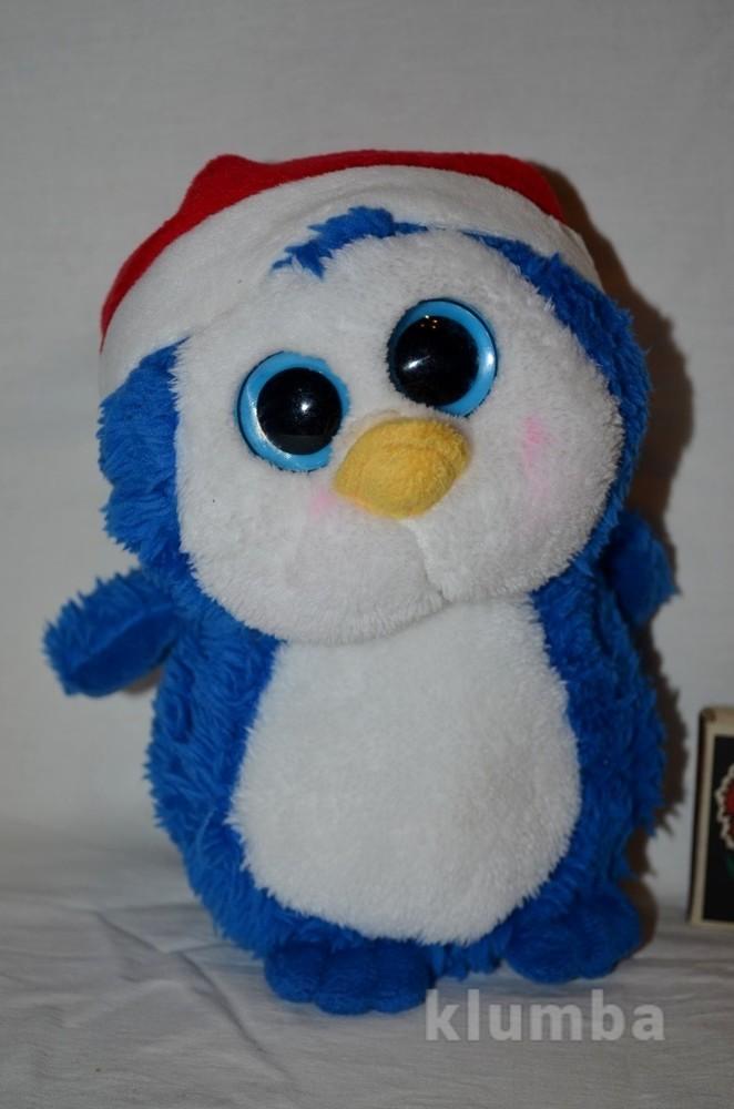 Большой мягкий глазастик лупастик новогодний пингвин пингвик фото №1