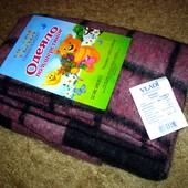 Теплое детское одеяло, как раз для холодной осени/ весны в колясочку  ( 75 % шерсти и 15 % хлопка)