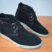 Мужские зимние замшевые ботинки Filo черный мех