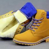Теплые зимние ботинки женские