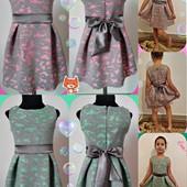 Красивое нарядное платье для девочки два цвета
