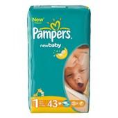 Підгузники дитячі Pampers (1) newborn 2-5 кг 43 шт. памперс памперсы актив беби