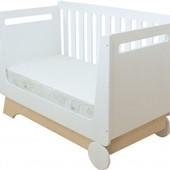 Кровать «Nova kit» со съемной спинкой и колесами, Indigo Wood
