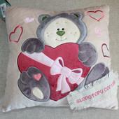 Подушка с любовью на выписку или день валентин, день рождения