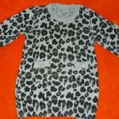 леопардовая туничка-платье на 9-12 месяцев.можно до 18 месяцев