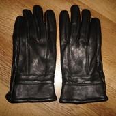 Мужские кожаные перчатки, размер M/L, утепленные 250 грн