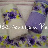 махровые полотенца в наборе
