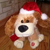 Интерактывная игрушка Новогодний щенок Танцует поет