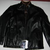 Новая!! мужская кожаная куртка на меху. Пролет с АлиЭкспресс. Реальные фото!!