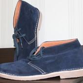 Деми ботинки нат. замша, кожа, 42р, синие, Испания