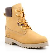 Желтые ботинки, 42р, нат кожа нубук, Испания, новые