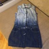 фирменный джинсовый сарафан на миниатюрную девушку