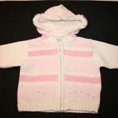 Теплый свитер для девочки 0-3 мес