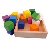 Новинка! Цветные деревянные кубики . п-во Украина