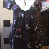 Потрясающее платье с вязаным воротничком