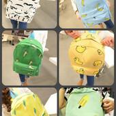 Стильный рюкзак. Банан, усы, мороженое, утки, ОК