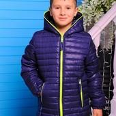 Куртка демисезонная для мальчика «Монклер р-ры 116-146