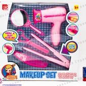 """Детский набор парикмахера, """"настоящий"""" фен и плойка на батарейках, зеркало, ножницы, расческа"""