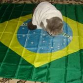 Фірмовий .Оригінал .Флаг .Прапор бенер Бризилія .Fifa2014 .