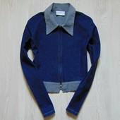 Стильная джинсовая курточка или пиджачок на молнии для девочки. Eurochic. Размер 12-13 лет