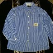 Стильная рубашка Next , размер указан 5 лет, рост 110 см.