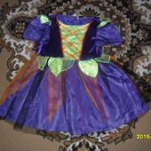 Новогодние праздничное платьице на 3-5лет