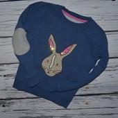6 - 7 лет Обалденная фирменная Кофточка реглан батник девочке с кроликом кролями