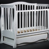 Детская кроватка диван «VIVA Luxury» белая