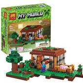 Конструктор Lele 79045 Майнкрафт Первая ночь (аналог Lego Minecraft 21115)