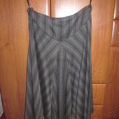 Теплая шерстяная юбка серого цвета. Atmosphere