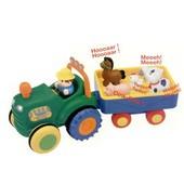 Игрушка на колесах - Трактор с трейлером (на колесах, свет, озвуч. укр. яз.) Арт.024753