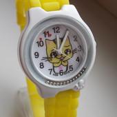 Детские часы с кошкой