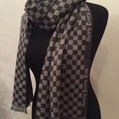 Стильный мужской шарф в мелкие квдратики