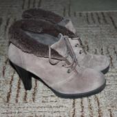 Зимние,замшевые ботиночки.Размер 37