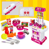 Детская кухня в чемодане Звуковые и световые эффекты