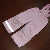 3-4 года (104-110 см)  h&m Зимний полукомбенизон для девочки.Отличнейшее состояние