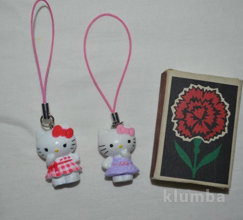 Маленькая hello kitty хелоу китти пластиковый брелочек брелок можно на телефон фото №1