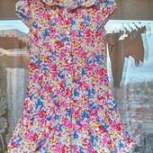 Цветочное платье - колокольчик для девочки 12 лет (152 -158)
