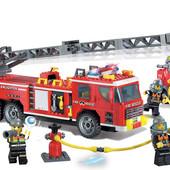 Конструктор Brick 908 Пожарная охрана на 607деталей