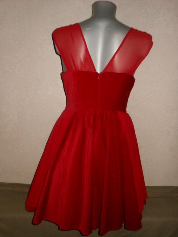 2e25b2ff900 38 40 atmosphere лимитированный выпуск! нарядное велюровое красное платье  на фатиновой юбке