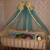 Балдахин на детскую кроватку (держатель в комплекте)