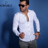 Стильная белая мужская рубашка