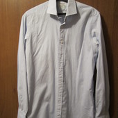 """Рубашка льняная в мелкую голубую клеточку """"T.M.Lewin"""" в отличном состоянии, Размер 36, Уп 12грн"""